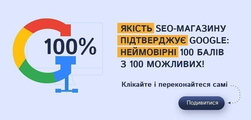 100% from Google PageSpeedInsights NeoSeo